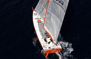 Vendee Globle 2004 2005 Vincent Riou bateau PRB