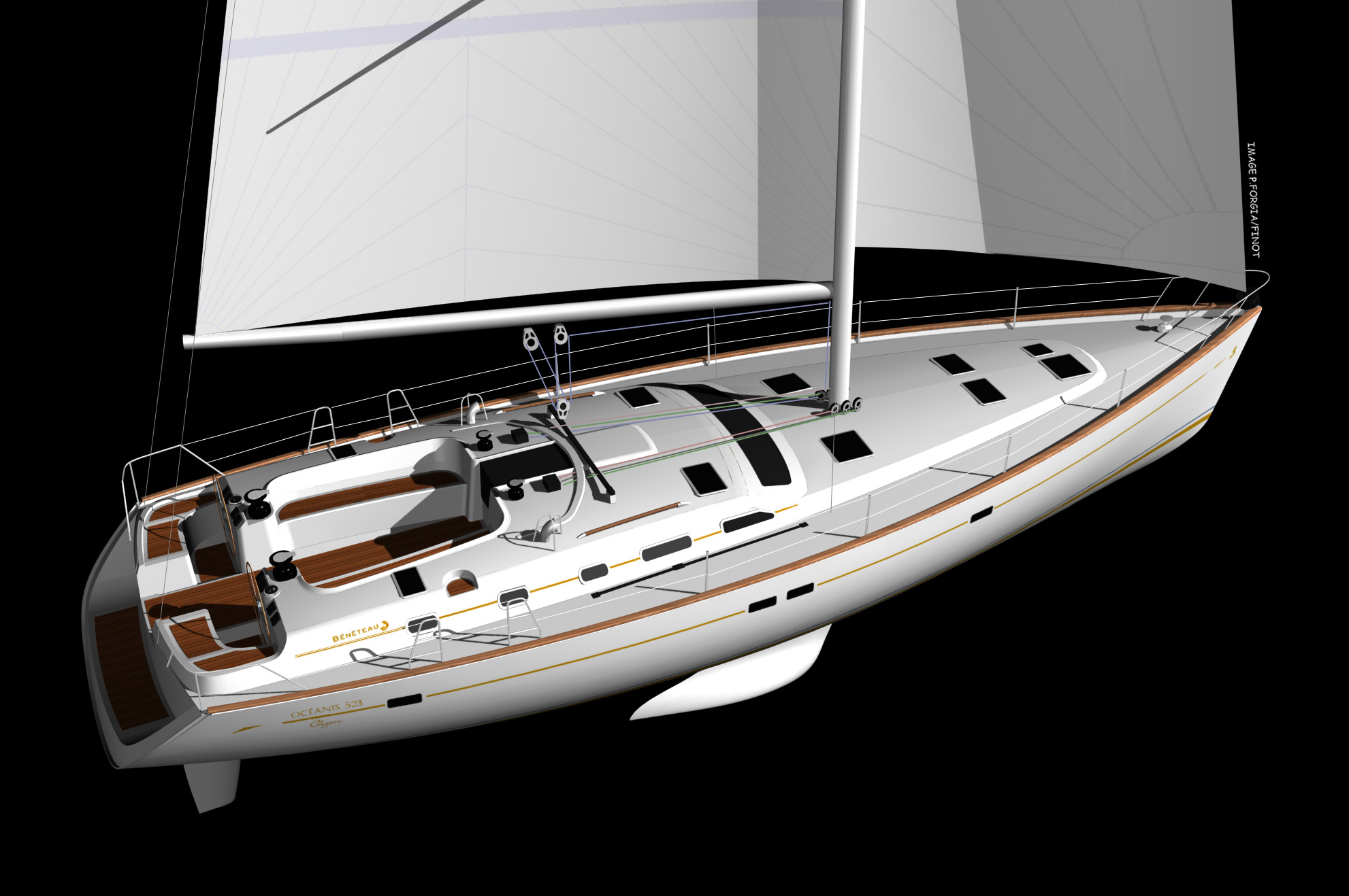 The Océanis 523 is the result of our common experience with Bénéteau, ...