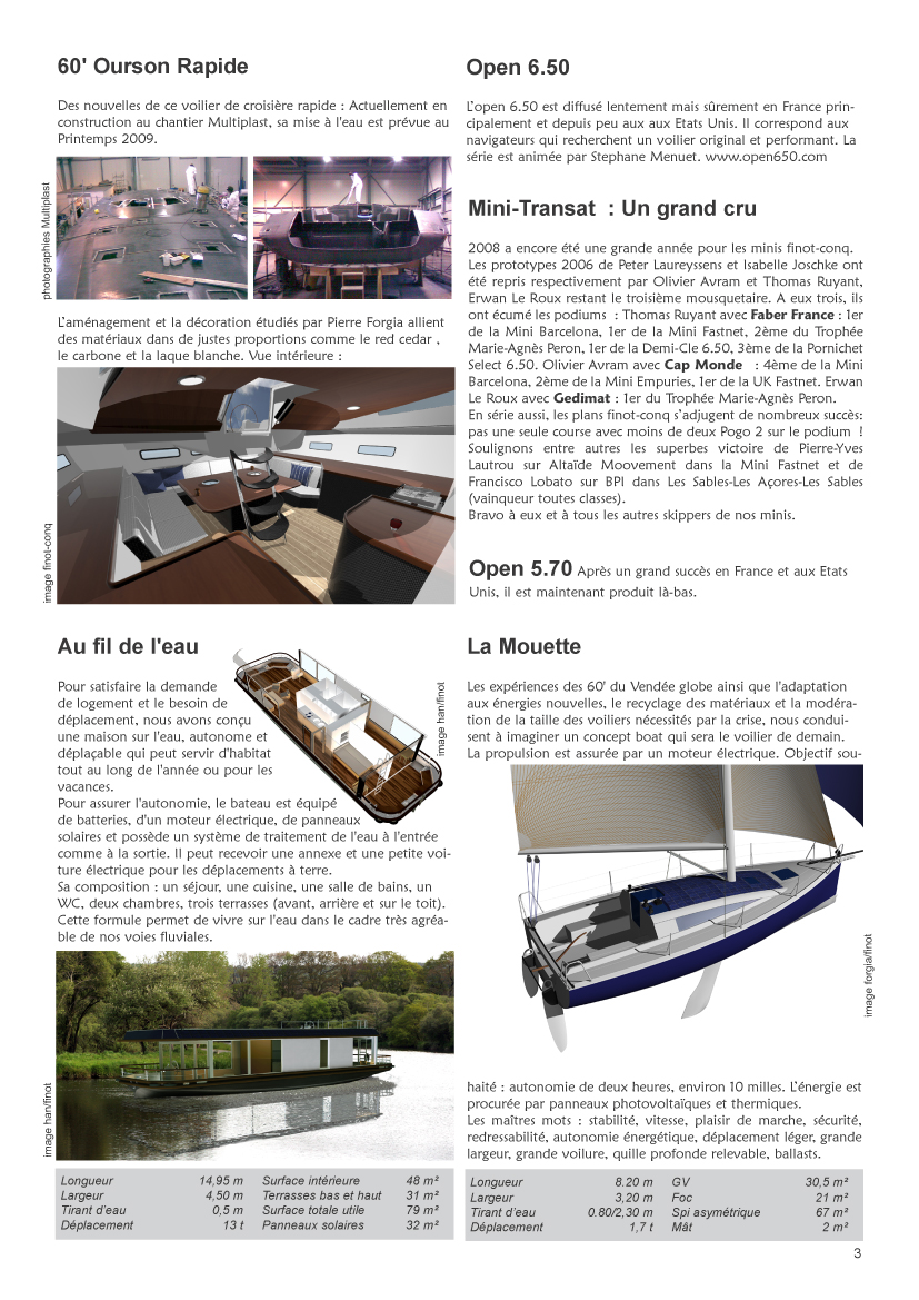 Journal du groupe finot nautic 2008 for Page 3 salon pathankot